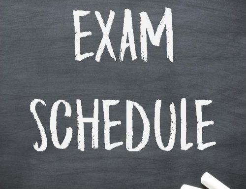 Semester 1 Exam Schedule
