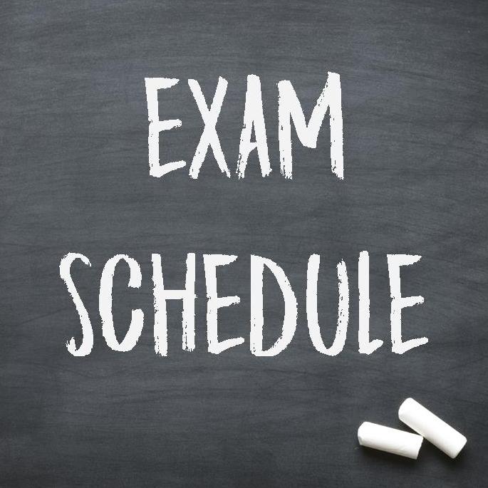 Semester 1 Exam Schedule